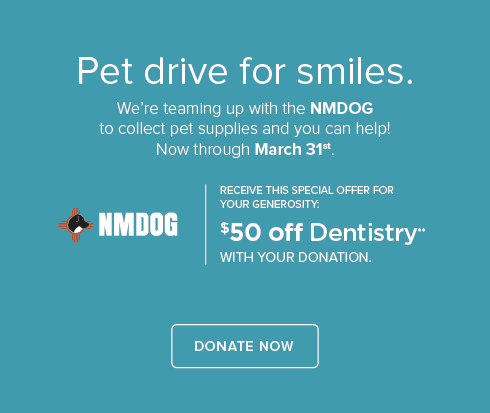 NMDOG Pet Drive - Cottonwood Smiles Dentistry and Orthodontics