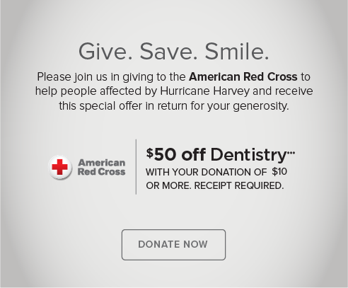 Cottonwood Smiles Dentistry and Orthodontics - Donate Red Cross® Hurricane Harvey